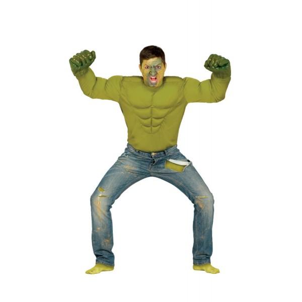Disfraz de héroe verde para hombre