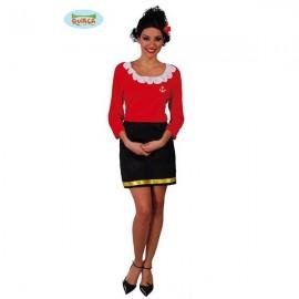 Disfraz Marinera  (Olivia) Adulto Mujer