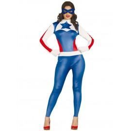 Disfraz de superhéroe capitana para mujer