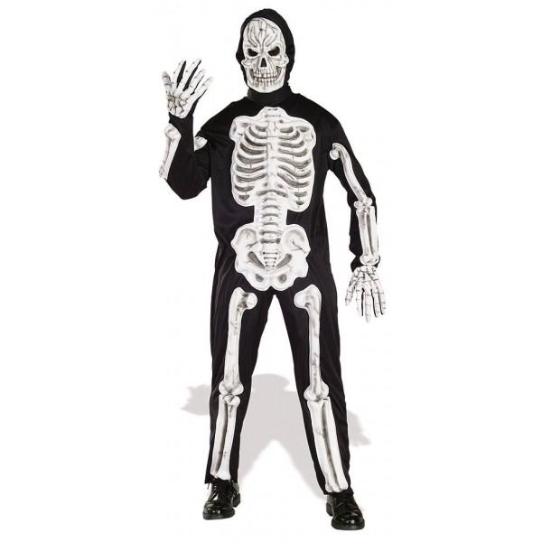 Disfraz Esqueleto con Huesos 3D Adulto Hombre