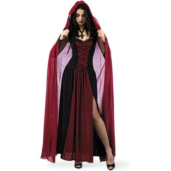 Disfraz Capa Roja Para Vampiresa Adulto Mujer