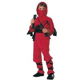 Disfraz Ninja Rojo Infantil Niño