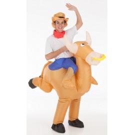 Disfraz Toro con Vaquero Hinchable Adulto