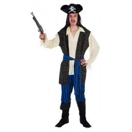 Disfraz Pirata Bucanero Brocado Adulto Hombre