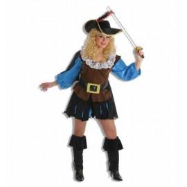 Disfraz Mosquetera Adulto Mujer
