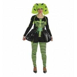Disfraz Bruja Verde Adulto Mujer