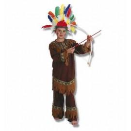 Disfraz Indio con Penacho Infantil Niño