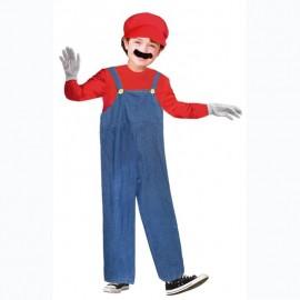Disfraz Fontanero Rojo Mario Infantil