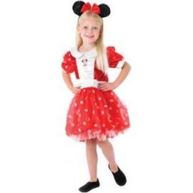 Disfraz Minnie Deluxe Rojo Infantil Niña.