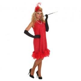Disfraz Charleston Rojo Adulto Mujer