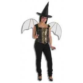 Alas Negras Adulto Halloween