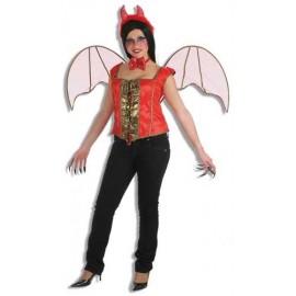 Alas Rojas Adulto Halloween