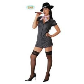 Disfraz Ganster Adulto Mujer