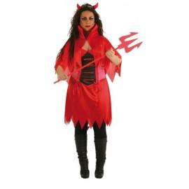 Disfraz Diablilla Roja Adulto Mujer